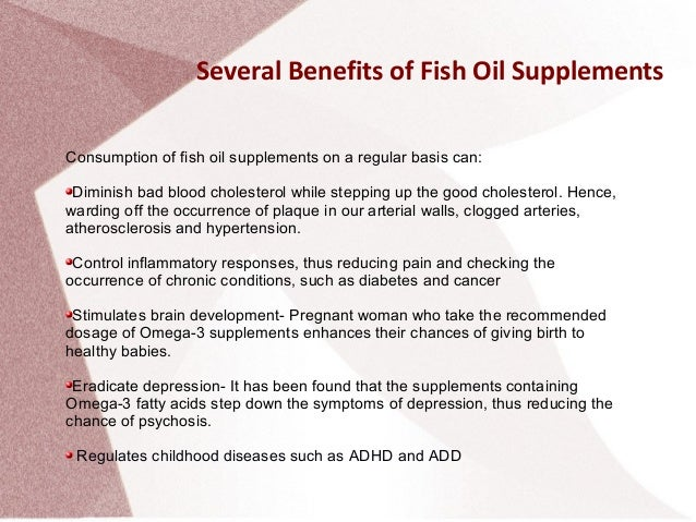 fish oil supplements benefits