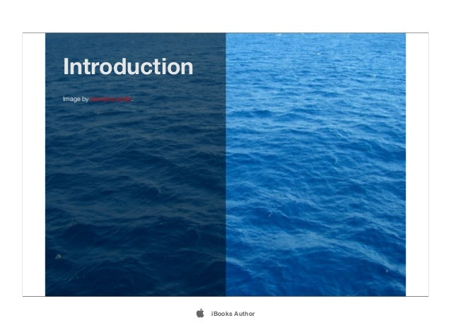 Introduction Image by lesmana andry.  iBooks Author