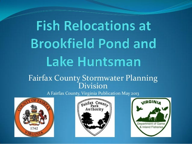 Fairfax County Stormwater PlanningDivisionA Fairfax County, Virginia Publication May 2013