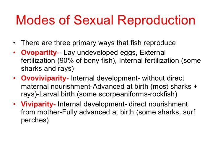 Sexual reproduction in fish