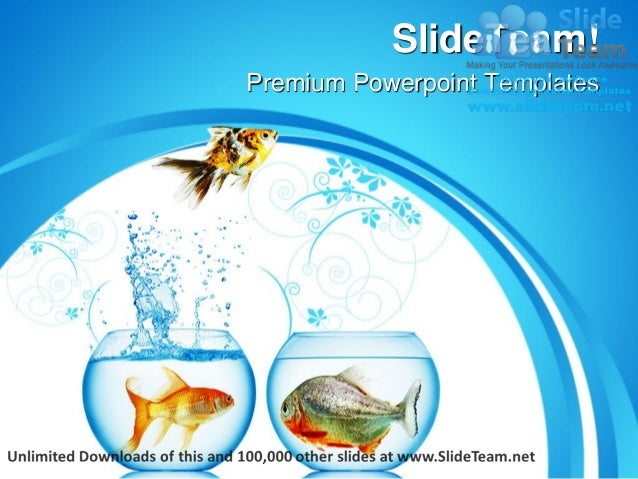 Fish runs away animals power point templates themes and backgrounds p premium powerpoint templates toneelgroepblik Gallery