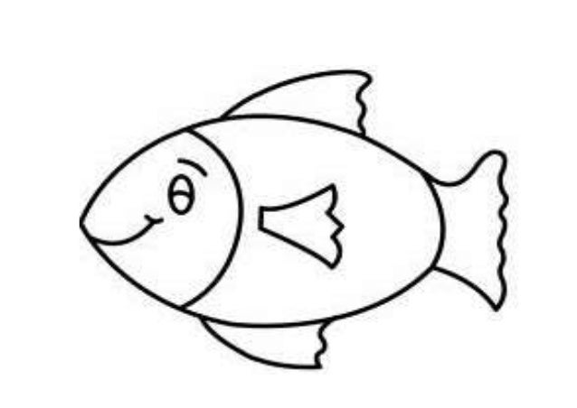 Fish template 3 for Printable fish template