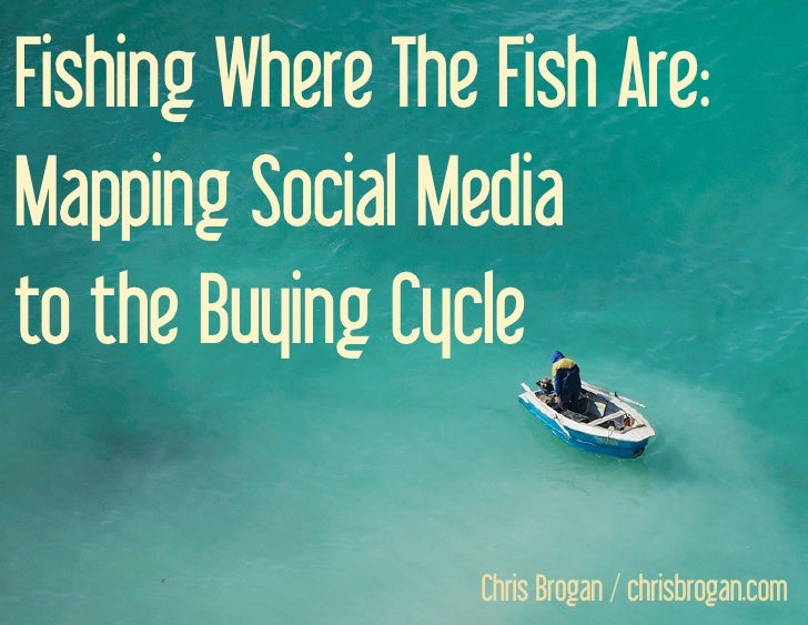 Fishing Where The Fish Are: Mapping Social Media to the Buying Cycle                                     Chris Brogan / ch...