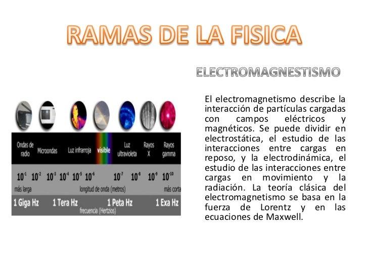 ELECTROMAGNESTISMO<br />     El electromagnetismo describe la interacción de partículas cargadas con campos eléctricos y m...