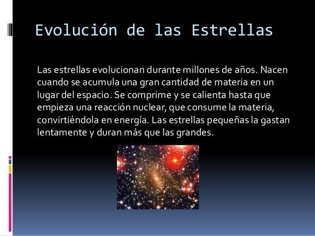 Resultado de imagen de Las estrellas evolucionan