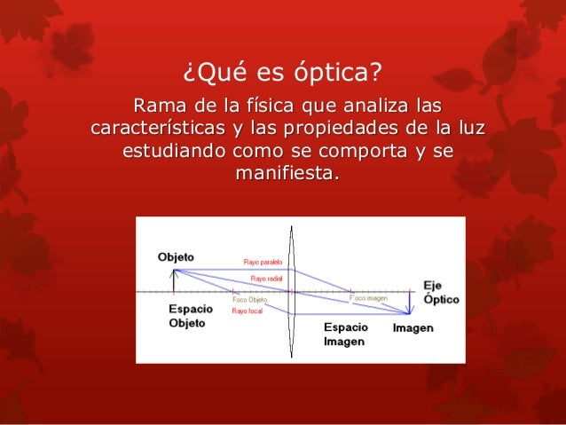 9f6eb051c0 2. ¿Qué es óptica? Rama ...