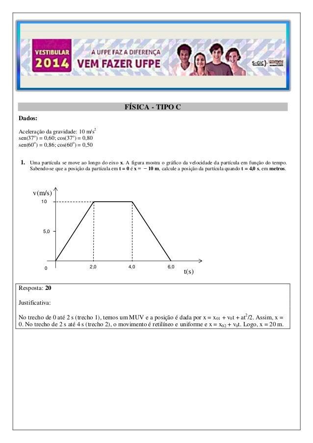FÍSICA - TIPO C Dados: Aceleração da gravidade: 10 m/s2 sen(37o) = 0,60; cos(37o) = 0,80 sen(60o) = 0,86; cos(60o) = 0,50 ...