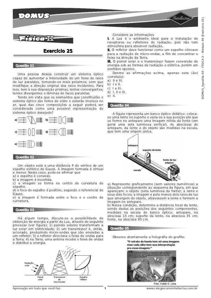 DOMUS_Apostila 03 - FÍSICA II - Módulo 49 (Exercício 25)                                                                  ...