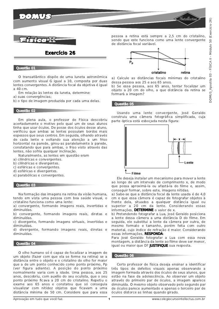 DOMUS_Apostila 03 - FÍSICA II - Módulo 50 (Exercício 26)                                                                 p...