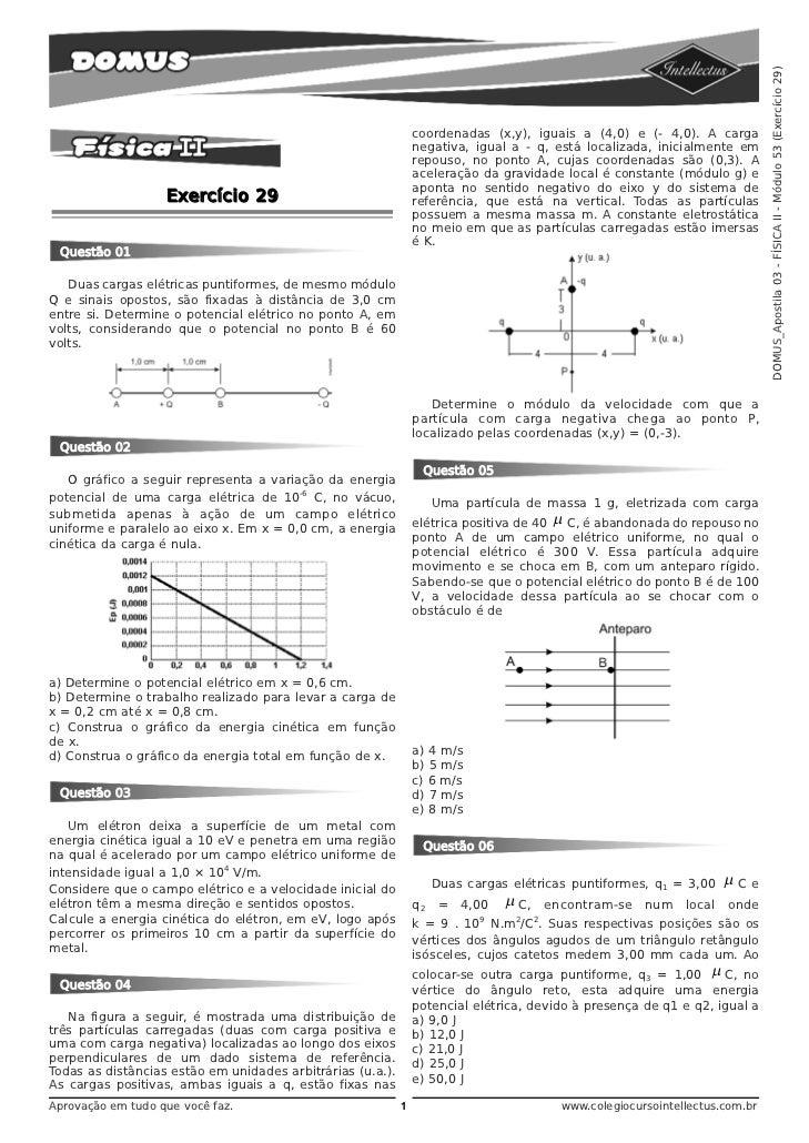 DOMUS_Apostila 03 - FÍSICA II - Módulo 53 (Exercício 29)                                                                co...
