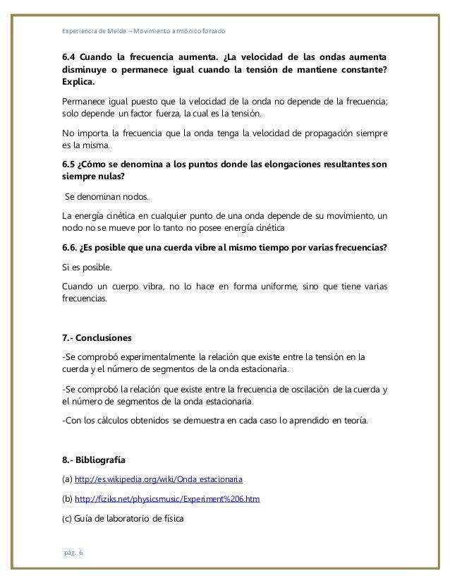 EXPERIENCIA DE MELDE INFORME PDF DOWNLOAD
