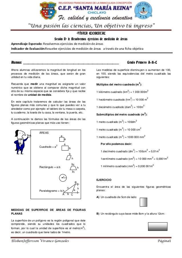 """""""Una pasión las ciencias, Un objetivo tú ingreso"""" ElisbanJeffersson Vivanco Gonzales Página1 ºFÍSICA ELEMENTAL Sesión Nº 1..."""