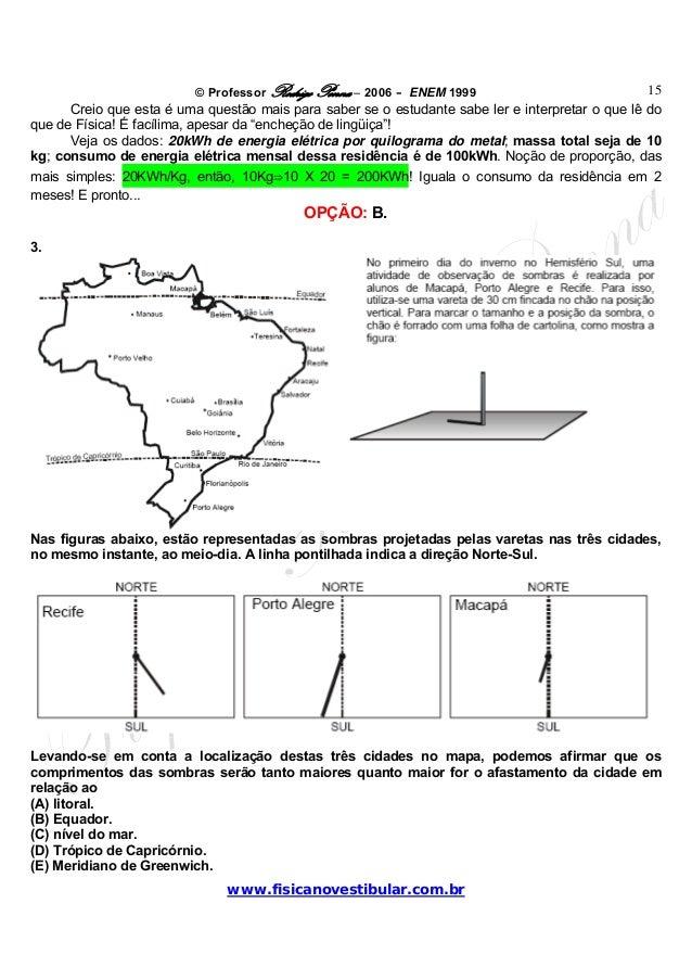 © Professor Rodrigo Penna – 2006 – ENEM 1999www.fisicanovestibular.com.br15Creio que esta é uma questão mais para saber se...