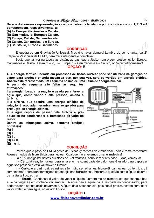 © Professor Rodrigo Penna – 2006 – ENEM 2000www.fisicanovestibular.com.br27De acordo com essa representação e com os dados...