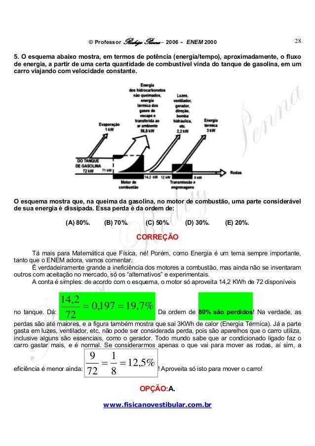 © Professor Rodrigo Penna – 2006 – ENEM 2000www.fisicanovestibular.com.br285. O esquema abaixo mostra, em termos de potênc...