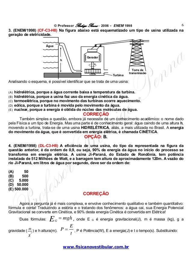 © Professor Rodrigo Penna – 2006 – ENEM 1998www.fisicanovestibular.com.br63. (ENEM/1998) (CF-C3-H8) Na figura abaixo está ...