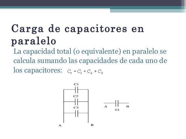 Capacitores En Serie Y Paralelo Energia De Un Capacitor