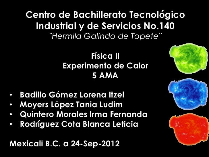 Centro de Bachillerato Tecnológico       Industrial y de Servicios No.140          ¨Hermila Galindo de Topete¨            ...