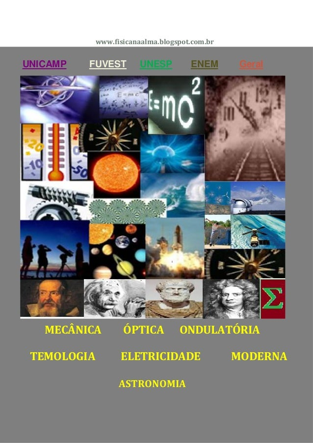 www.fisicanaalma.blogspot.com.brUNICAMP   FUVEST        UNESP         ENEM      Geral   MECÂNICA         ÓPTICA         ON...