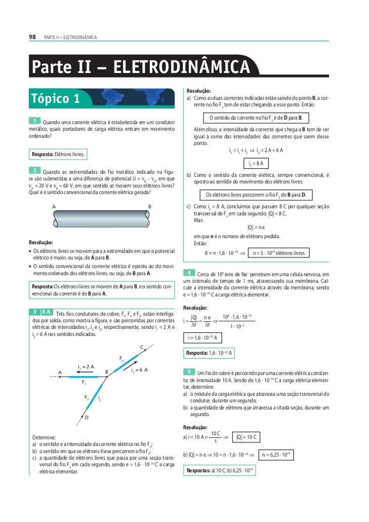 Eletrodinamica corrente eletrica e resistores