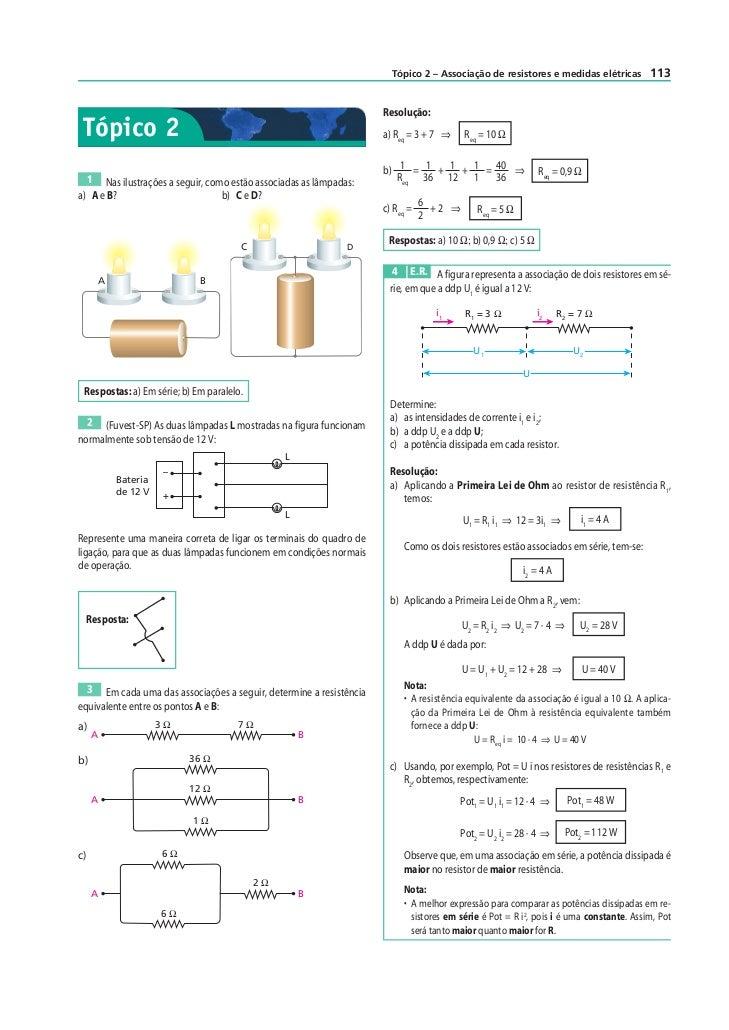 Tópico 2 – Associação de resistores e medidas elétricas         113                                                       ...