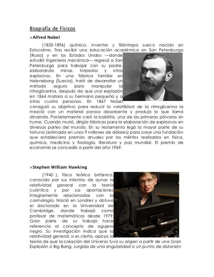 Fisicos biografia