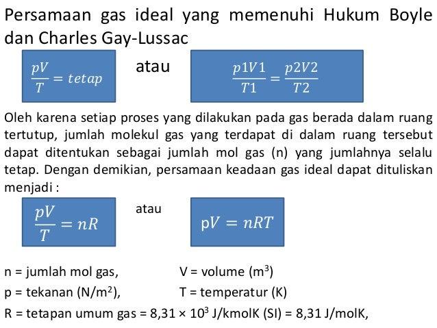 Gas Ideal Dalam Ruang Tertutup