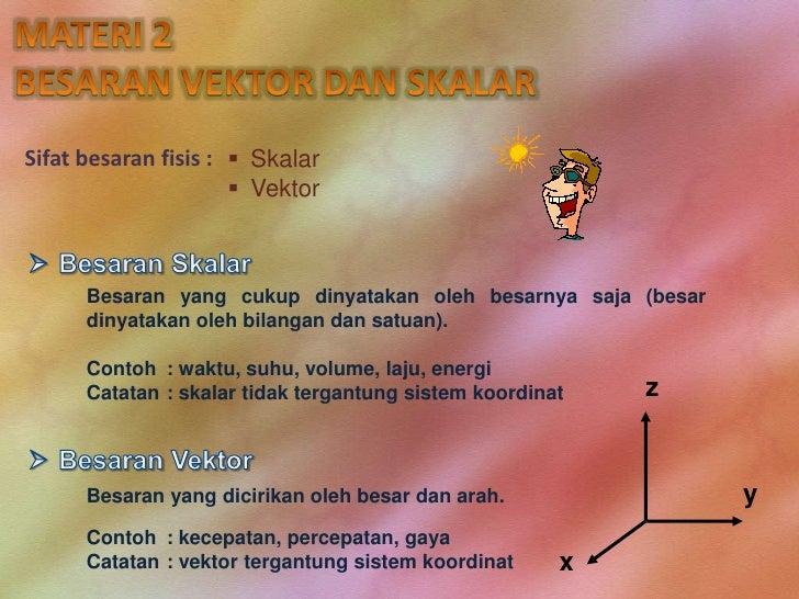 Fisika 2 Besaran Skalar Dan Vektor