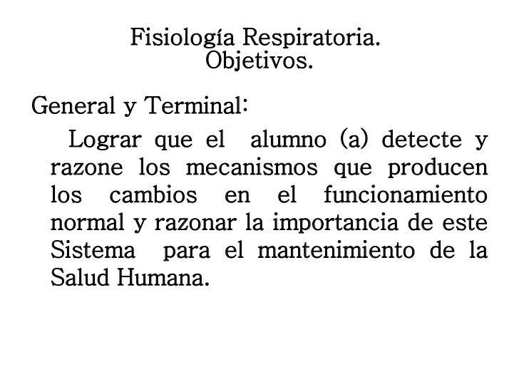Fisiología Respiratoria. Slide 3
