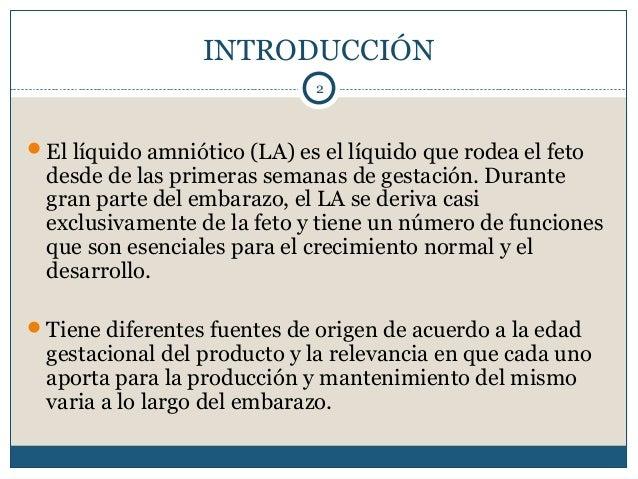 Fisiología del líquido amniótico