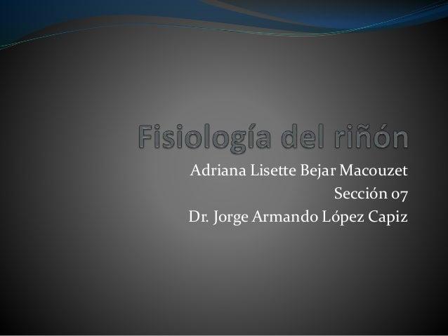 Adriana Lisette Bejar Macouzet Sección 07 Dr. Jorge Armando López Capiz