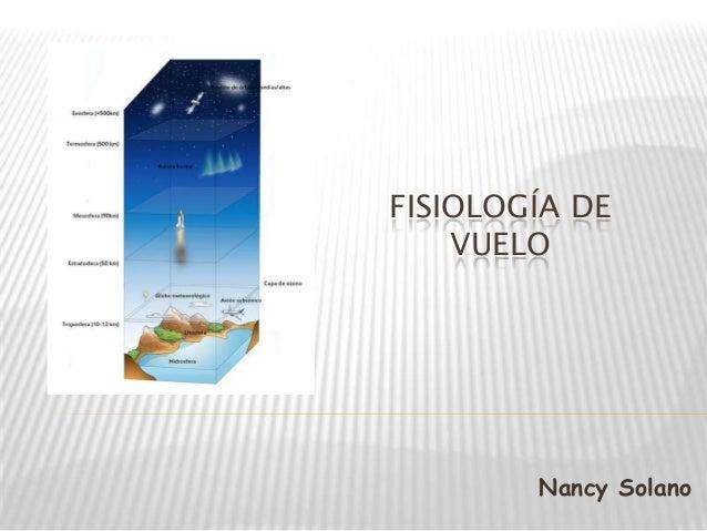 FISIOLOGÍA DE VUELO Nancy Solano