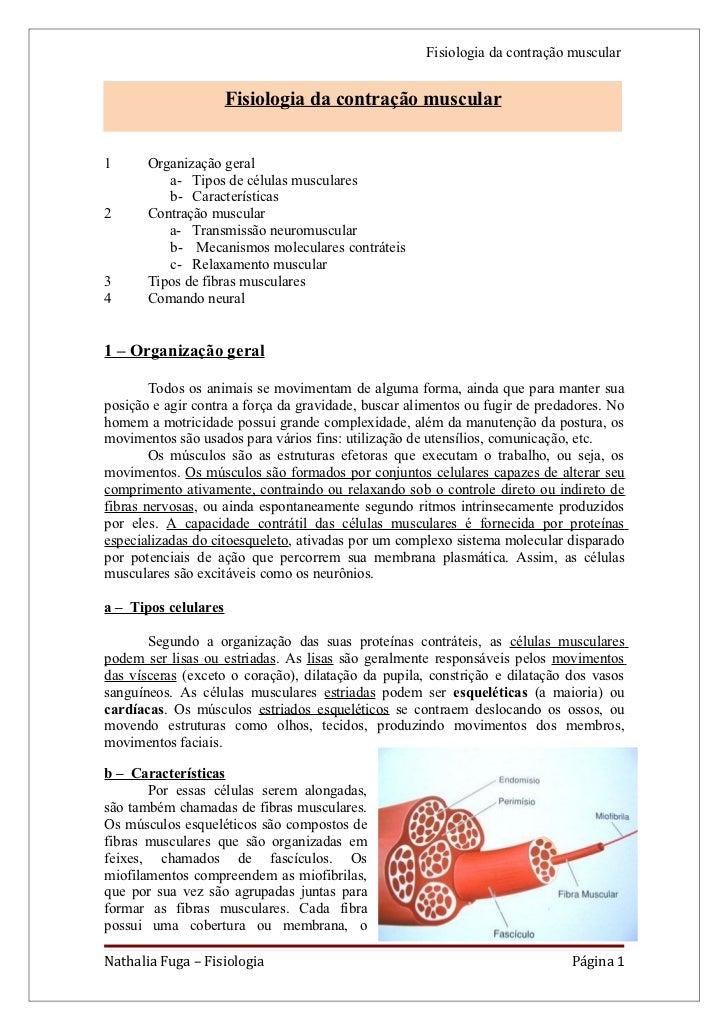 Fisiologia da contração muscular                      Fisiologia da contração muscular1      Organização geral          a-...