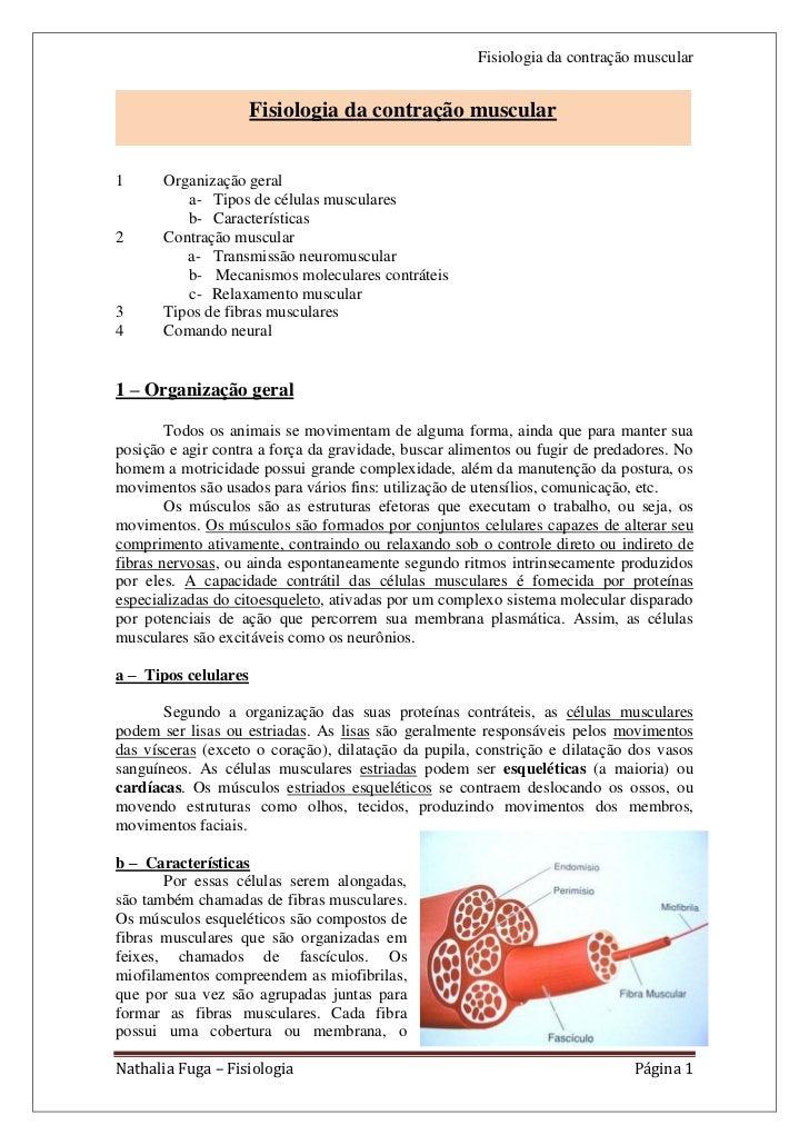 Fisiologia da contração muscular                      Fisiologia da contração muscular                                    ...