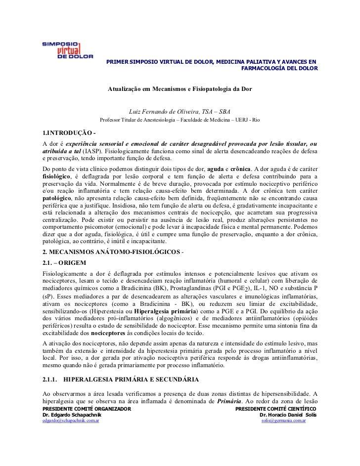 PRIMER SIMPOSIO VIRTUAL DE DOLOR, MEDICINA PALIATIVA Y AVANCES EN                                                         ...