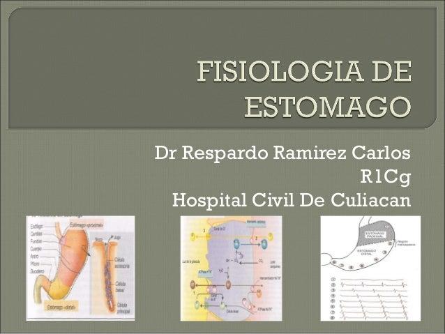 Dr Respardo Ramirez Carlos                      R1Cg Hospital Civil De Culiacan