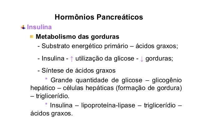Hormônios Pancreáticos Insulina e exercício Diminuição da insulina – duração do exercício; Aumento na sensibilidade à insu...