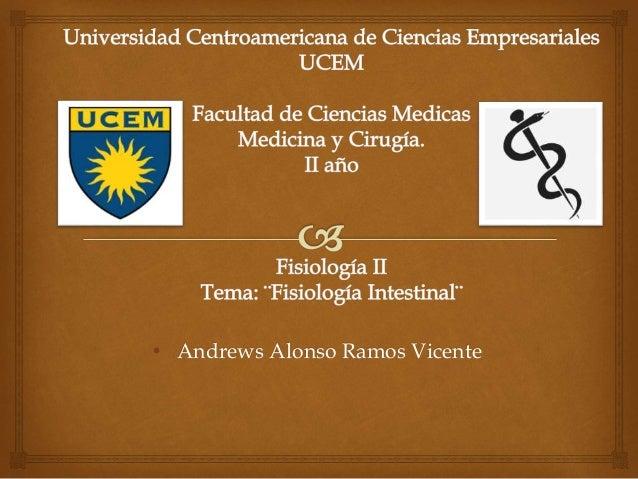 • Andrews Alonso Ramos Vicente