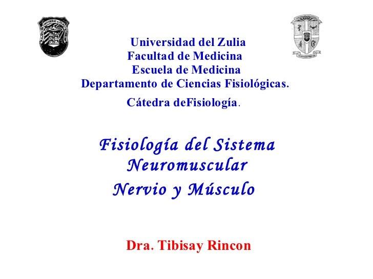 Universidad del Zulia Facultad de Medicina  Escuela de Medicina Departamento de Ciencias Fisiológicas.  Cátedra deFisiolog...