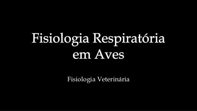 Fisiologia Veterinária