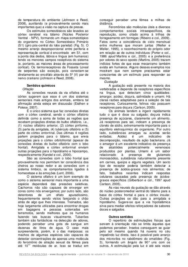 REVISTA DA BIOLOGIA – www.ib.usp.br/revista – publicado no volume 5 – dezembro de 2010 30 de temperatura do ambiente (John...