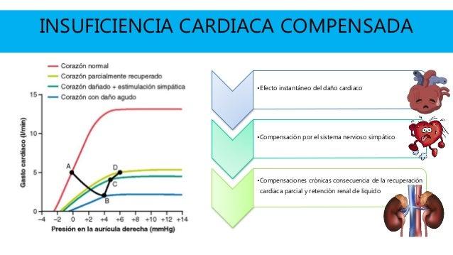 INSUFICIENCIA CARDIACA COMPENSADA •Efecto instantáneo del daño cardiaco •Compensación por el sistema nervioso simpático •C...