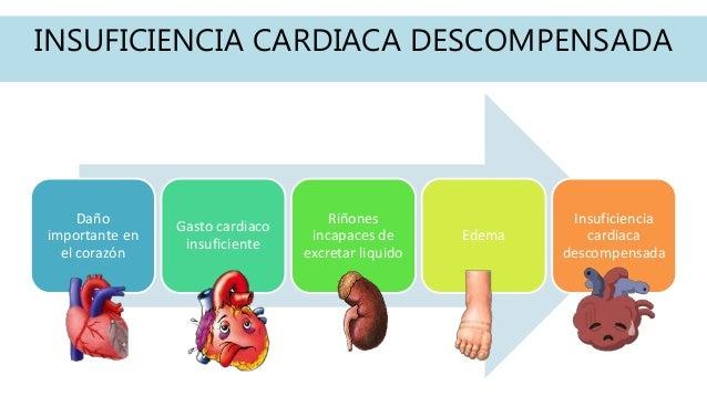 INSUFICIENCIA CARDIACA DESCOMPENSADA Daño importante en el corazón Gasto cardiaco insuficiente Riñones incapaces de excret...