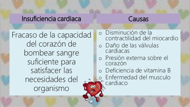Insuficiencia cardiaca Fracaso de la capacidad del corazón de bombear sangre suficiente para satisfacer las necesidades de...
