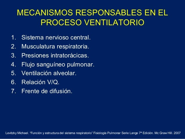 MECANISMOS RESPONSABLES EN ELPROCESO VENTILATORIO1. Sistema nervioso central.2. Musculatura respiratoria.3. Presiones intr...