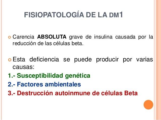 Fisiopatología de la diabetes 1, 2 y gestacional
