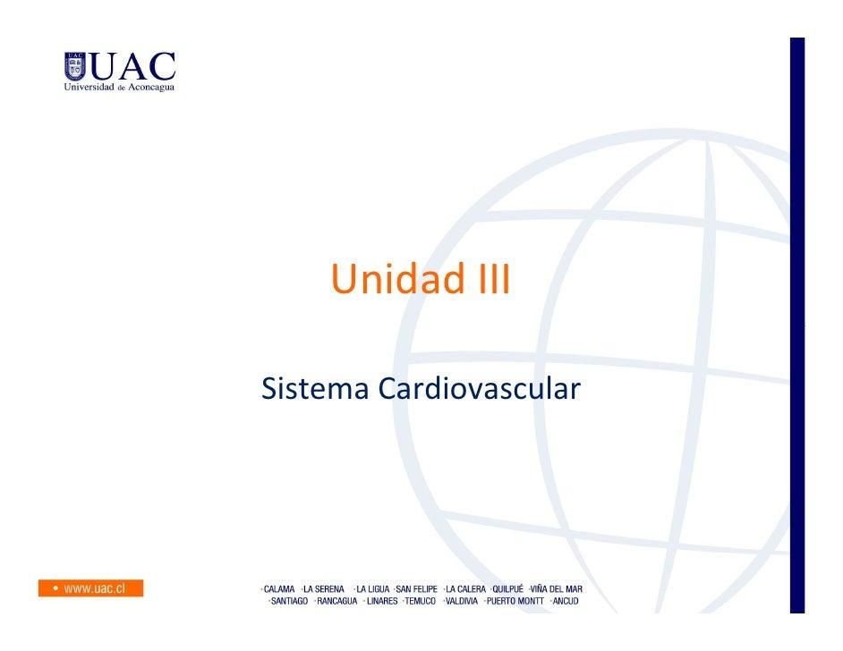 Unidad IIISistema Cardiovascular