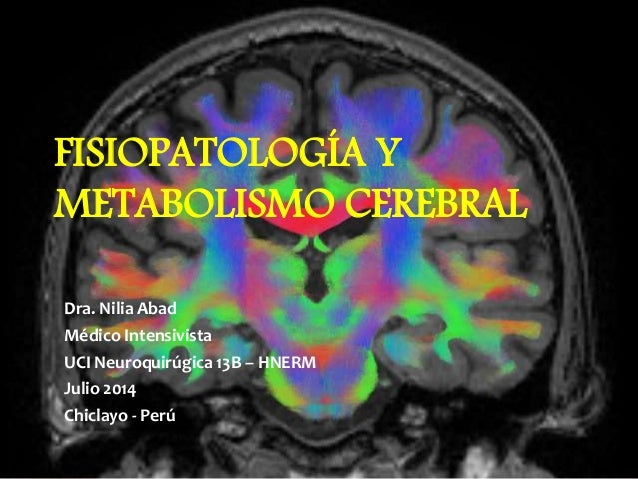 FISIOPATOLOGÍA Y METABOLISMO CEREBRAL Dra. Nilia Abad Médico Intensivista UCI Neuroquirúgica 13B – HNERM Julio 2014 Chicla...