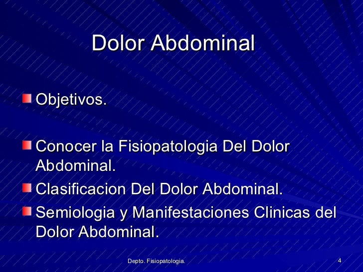 Fisiopatologia Dolor Abdominal