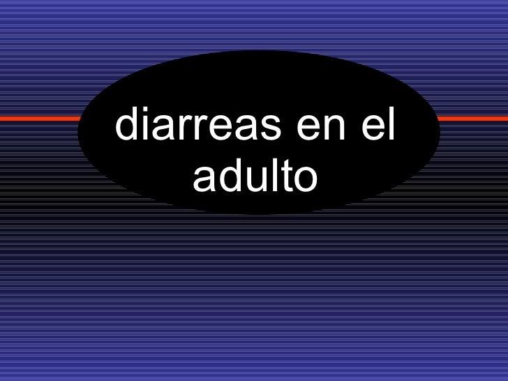 diarreas en el adulto